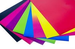 Cartulina del color Imágenes de archivo libres de regalías