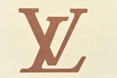 Cartulina del vuitton de louis de la insignia fotografía de archivo