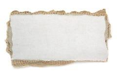 Cartulina en blanco rasgada foto de archivo libre de regalías