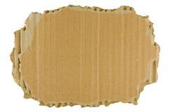 Cartulina rasgada Brown Imagen de archivo libre de regalías
