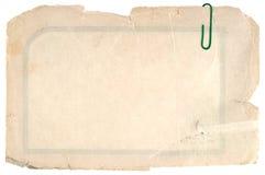 Cartulina sucia vieja Fotos de archivo libres de regalías