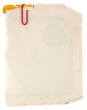 Cartulina sucia vieja Fotografía de archivo libre de regalías
