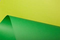 Cartulina verde clara y verde Fotografía de archivo
