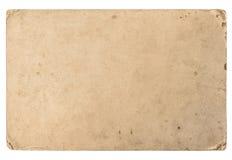 Cartulina vieja con los bordes Textura de papel sucia del vintage imágenes de archivo libres de regalías