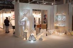 Cartuna designställning på HOMI, internationell show för hem i Milan, Italien Arkivbilder
