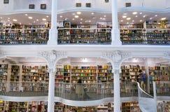 Carturesti Carusel书店在布加勒斯特,罗马尼亚 库存照片