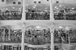 Carturesti Carusel书店在布加勒斯特,罗马尼亚 库存图片