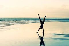 Cartwheel della spiaggia Fotografia Stock