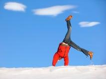 Cartwheel do inverno Fotos de Stock Royalty Free
