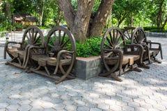Cartwheel krzesło, tajlandzki styl Zdjęcie Stock