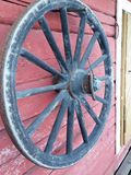 Cartwheel. On an old barn Royalty Free Stock Image