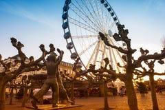 Cartwheeler rzeźba, Dusseldorf zdjęcie royalty free