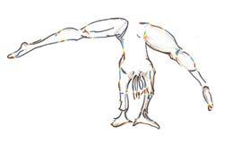 Cartwheeling体操运动员 库存照片