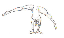 Cartwheelings-Turner Stockfoto
