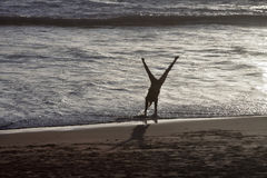 Cartwheels στην κυματωγή Στοκ εικόνες με δικαίωμα ελεύθερης χρήσης