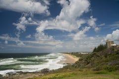 Cartwright della pinta di vista sul mare della costa del sole Fotografia Stock
