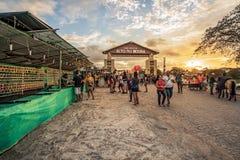 Caruaru, Pernambuco, Βραζιλία - τον Ιούνιο του 2019: Ηλιοβασίλεμα σε São João Party Festivity Alto do Moura στοκ φωτογραφία με δικαίωμα ελεύθερης χρήσης