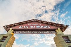 Caruaru, Pernambuco, Βραζιλία - τον Ιούνιο του 2019: Ηλιοβασίλεμα σε São João Party Festivity Alto do Moura στοκ εικόνες