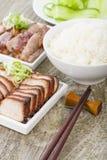 Carvão animal Siu Pork & pato de Peking imagem de stock royalty free