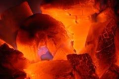 Carvão ardente Imagem de Stock Royalty Free