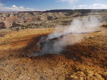 Carvão ardente subterrâneo na montanha de Smokey Imagens de Stock Royalty Free