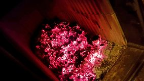 Carvão da chaminé imagens de stock royalty free