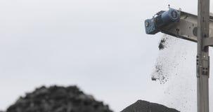 Carvão da correia transportadora Máquina para o carvão de carregamento mineração na mina de carvão filme