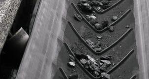 Carvão da correia transportadora Máquina para o carvão de carregamento mineração na mina de carvão video estoque