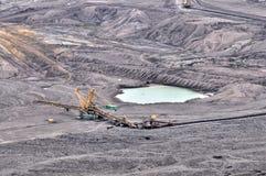 Carvão de Brown aberto - mineração do molde foto de stock royalty free
