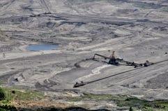Carvão de Brown aberto - mineração do molde fotografia de stock royalty free