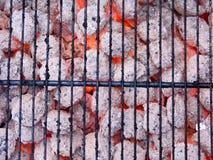 Carvão e flama foto de stock