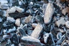 carvão Fogo extinto Fundo Textura fotos de stock royalty free