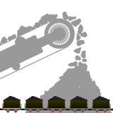 Carvão industry-1 ilustração royalty free