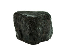 Carvão isolado imagens de stock royalty free