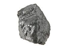 Carvão isolado no branco foto de stock