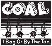 carvão ilustração stock