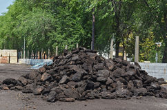Carvão para o inverno Fotos de Stock