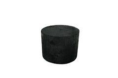 Carvão preto da pilha isolado no fundo branco Fotografia de Stock