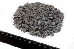 Carvão preto da pilha isolado no fundo branco Fotos de Stock Royalty Free