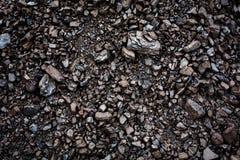 Carvão preto fundo textured Imagens de Stock