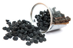 Carvão vegetal de Aalaw: Doces doces da sobremesa tailandesa da lata do plástico Foto de Stock Royalty Free