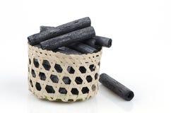 Carvão vegetal de bambu. fotos de stock