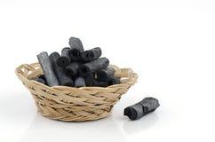 Carvão vegetal de bambu imagens de stock