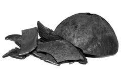 Carvão vegetal isolado no branco imagens de stock royalty free