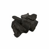Carvão vegetal preto isolado Imagem de Stock