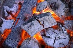 Carvão vegetal quente Imagem de Stock Royalty Free
