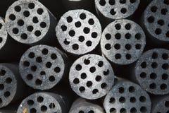 Carvões amassados de carvão imagem de stock royalty free