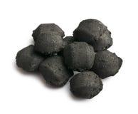 Carvões amassados do carvão vegetal fotografia de stock royalty free