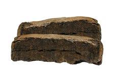 Carvões amassados do combustível da turfa Imagem de Stock