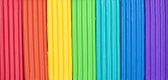 Carvões amassados do plasticine das crianças Imagem de Stock Royalty Free
